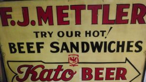 F.J. Mettler's - Vintage Sign, Mankato MN