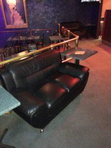 Seating at Mettler's Bar