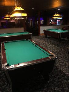 Three pool tables